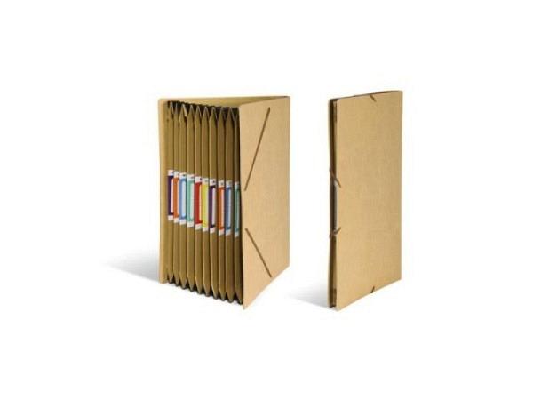 Fächermappe Schwartz Kraftpapier mit 12 Fächern A4