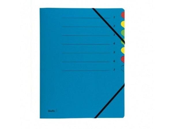 Ordnungsmappe Biella Karton Colour 7tlg. blau