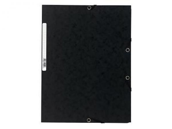 Pendenzenmappe Exacompta schwarz A4 3Klappen, Pressspan 400g