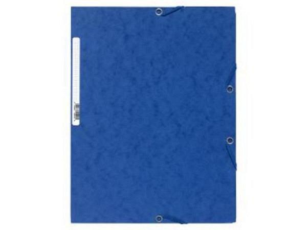 Pendenzenmappe Exacompta blau A4 3Klappen, 400g/qm