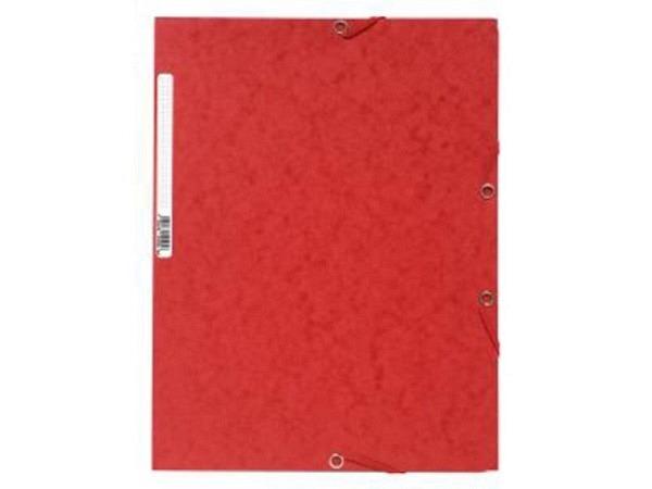 Pendenzenmappe Exacompta rot A4 3Klappen, Pressspan 400g/qm