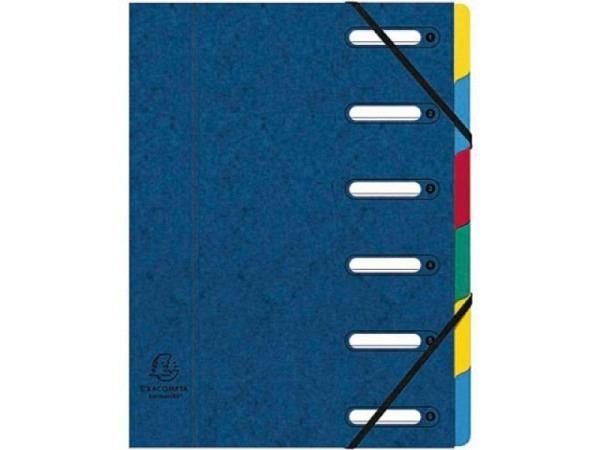 Ordnungsmappe Exacompta Harmonika 6tlg. blau für A4