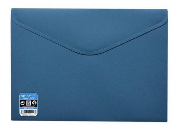 Pendenzenmappe Office Box A4 mit Klettverschluss stahlblau opak