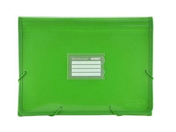 Fächermappe Office Box Colorline A4 quer grün transparent