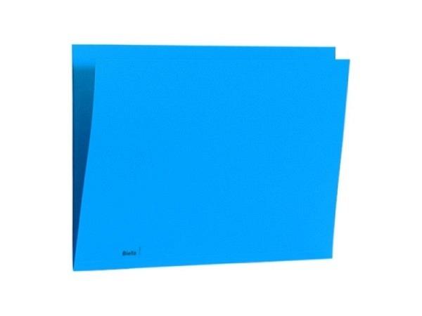 Einlagemappe Biella Color 23/24x32cm 3 Rillen blau