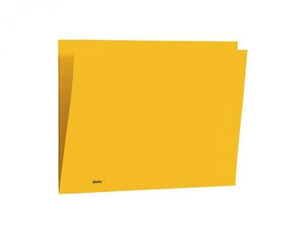 Einlagemappe Biella Color 23/24x32cm 3 Rillen gelb