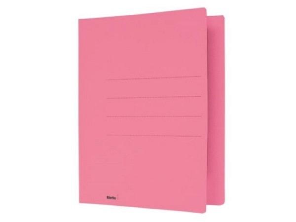 Einlagemappe Biella simpel 240g/qm 23/24x31cm rosa