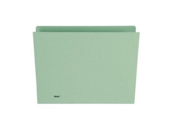 Vertikalmappe Biella 240g/qm 24/25,5x32cm grün, 100Stk