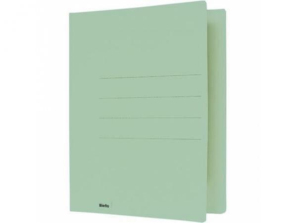 Einlagemappe Biella 240g 23/24x31cm grün 3 Rillen Altpap.