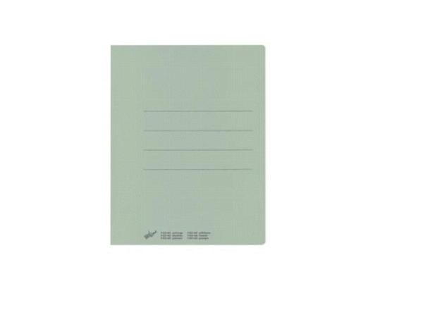 Einlagemappe Büroline grün 23/24x31cm 3 Rillen