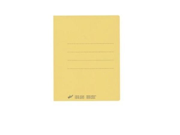 Einlagemappe Büroline gelb 23/24x31cm 3 Rillen