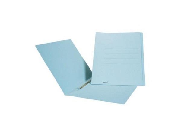 Einlagemappe Biella 23/24x31cm Schnellh. blau 50St