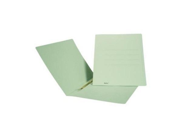 Einlagemappe Biella 23/24x31cm Schnellh. grün 50St