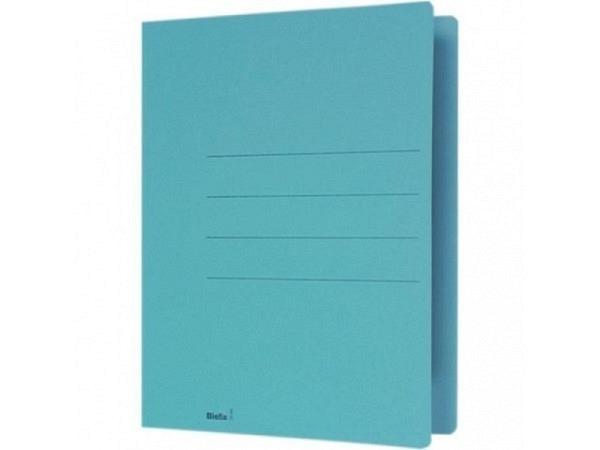 Einlagemappe Biella 240g 23/24x31cm blau 3 Rillen Altpapier