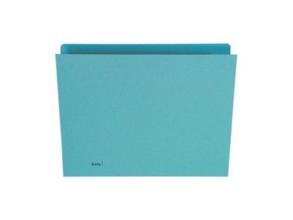 Vertikalmappe Biella 240g/qm 24/25,5x32cm blau, 100Stk