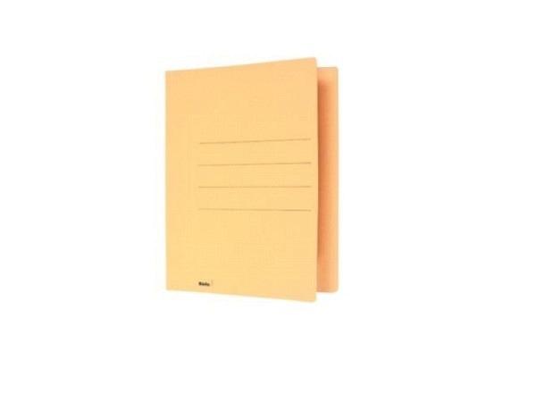 Einlagemappe Büroline gelb 23/24x31cm 3 Rillen 240g