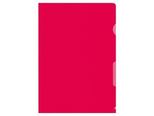 Sichtmappen BüroLine klar rot dünn 100stk.