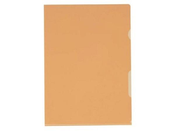 Sichtmappen BüroLine klar orange dünn 100Stk