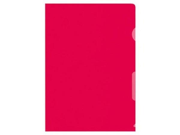 Sichtmappen BüroLine matt rot dünn 100Stk.