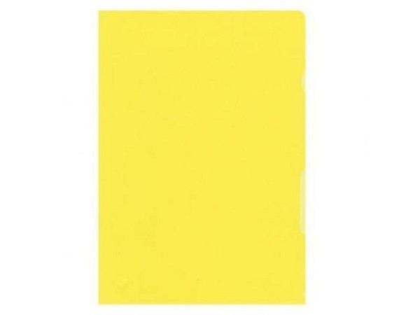 Sichtmappen BüroLine matt gelb dünn 100Stk.