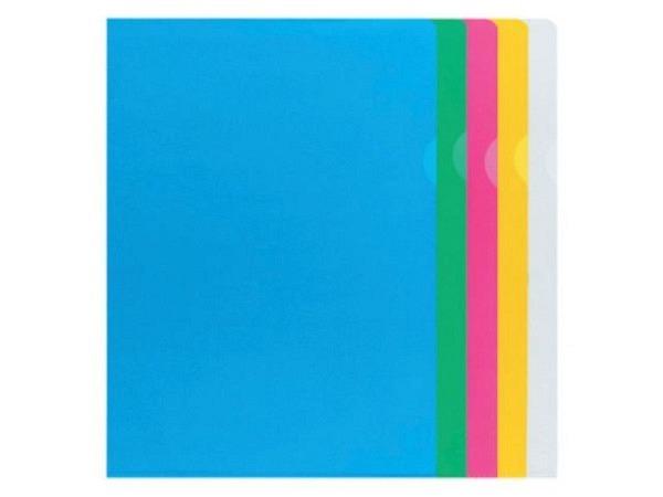 Sichtmappen Büroline blendfrei A4 farbig assortiert 100Stk.