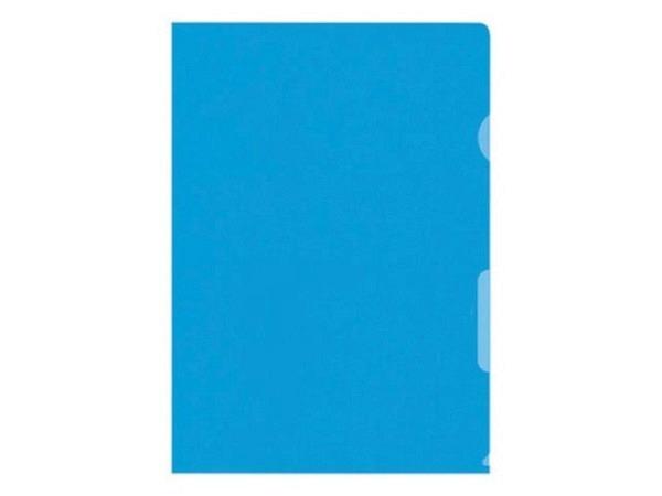 Sichtmappen Büroline dick 0,16mm blau glatt 100Stk.