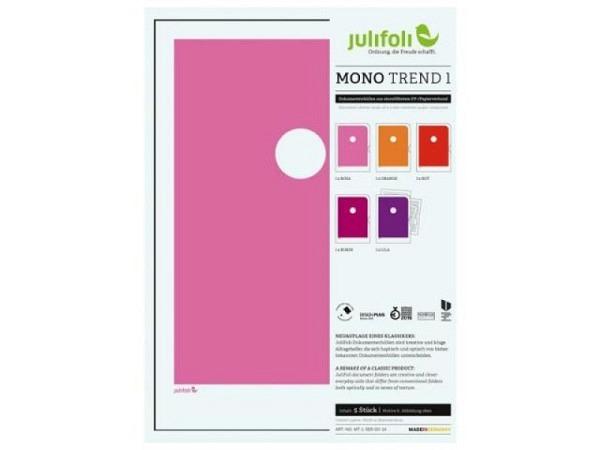 Sichtmappen Julifoli Mono Trend 1, 5Stk. in starken Rottönen