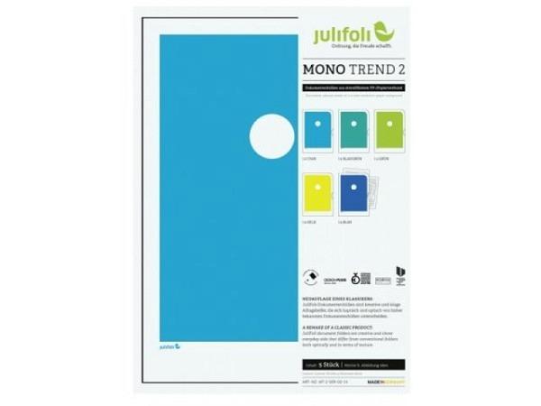 Sichtmappen Julifoli Mono Trend 2, 5Stk. in starken Farben