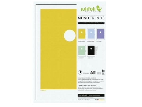 Sichtmappen Julifoli Mono Trend 3, 5Stk. in zarten Farben
