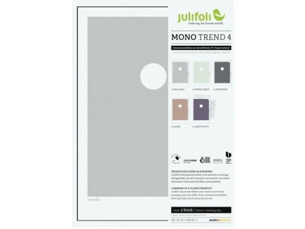 Sichtmappen Julifoli Mono Trend 4, 5Stk. in Pastelltönen