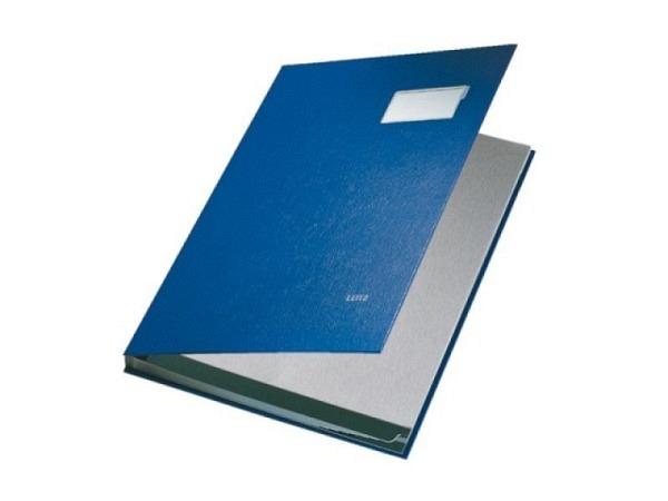 Unterschriftenmappe Leitz A4 10tlg. blau