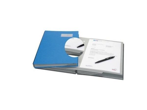 Unterschriftenmappe Biella Papierdeckel A4 20tlg. blau