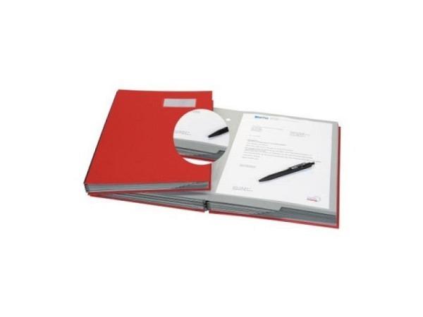 Unterschriftenmappe Biella Papierdeckel A4 20tlg. rot
