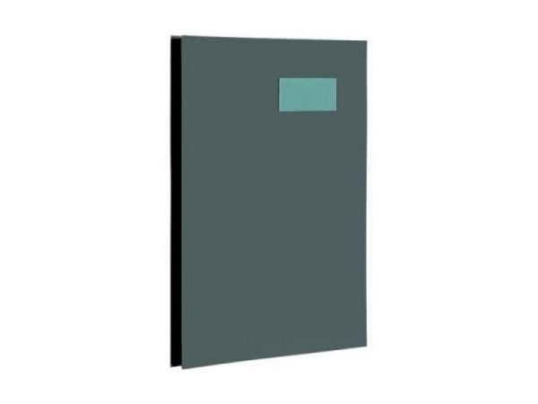 Unterschriftenmappe Biella Papierdeckel A4 10tlg. dunkelgrau
