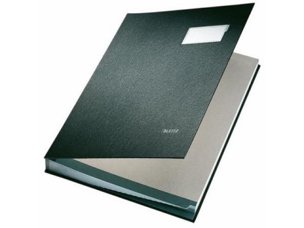 Unterschriftenmappe Leitz 20tlg. schwarz, 20 Fächer für A4
