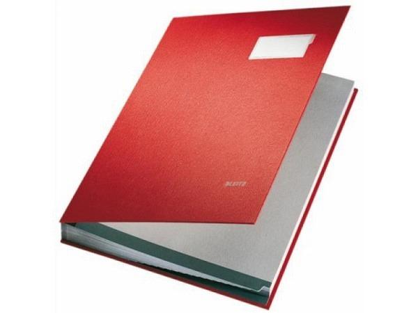 Unterschriftenmappe Leitz 20tlg. rot, 20 Fächer A4