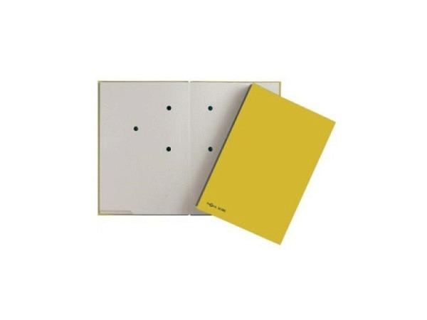 Unterschriftenmappe Pagna A4 gelb 20tlg, Papier-Einband