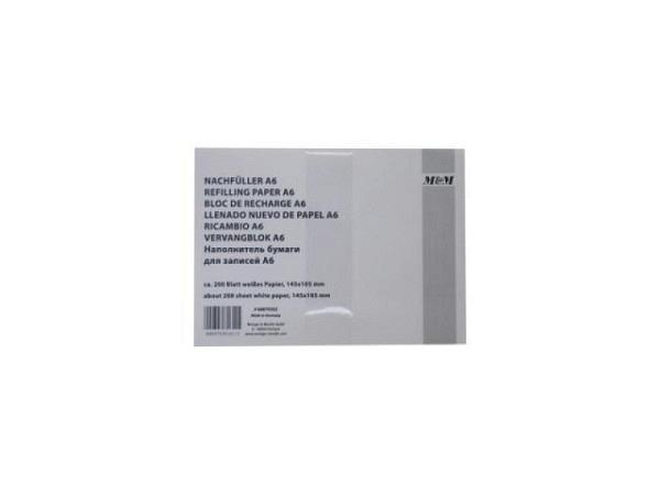 Notizpapier M&M A6 weiss 80g/qm, lose Blätter