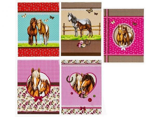 Notizblock Pferde A7, Block mit 40 Blatt