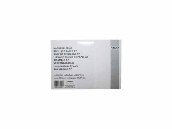 Notizpapier M+M A7 weiss 80g/qm, ca. 200 Blatt