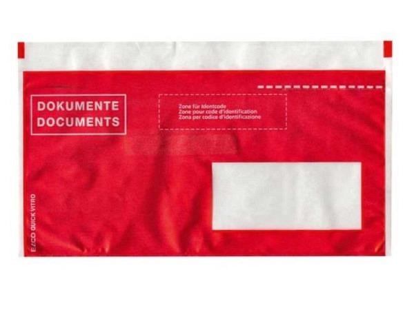 Begleitpapiertasche Elco pac-it Quick C6/5 Fenster recht rot