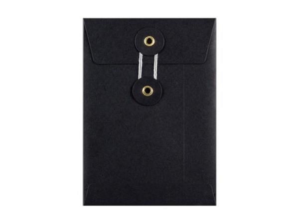 Couverts Kraftpapier schwarz C6 mit Bindfadenverschluss