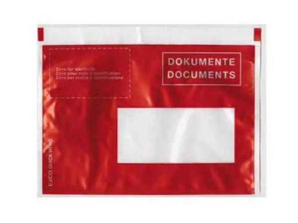 Begleitpapiertasche Dokufix C6 mit Druck 250Stk