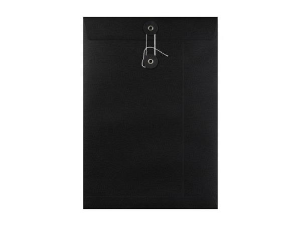 Couverts Kraftpapier schwarz C4 mit Bindfadenverschluss