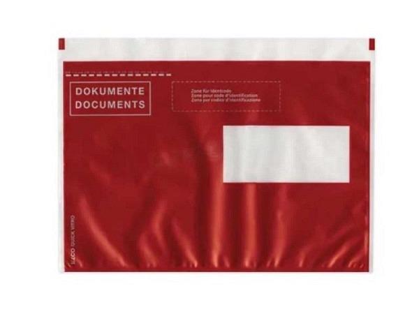 Begleitpapiertasche Elco pac-it Quick C5 Fenster rechts rot