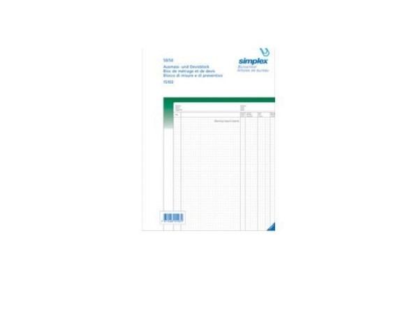 Ausmassbuch Simplex A4 50x2