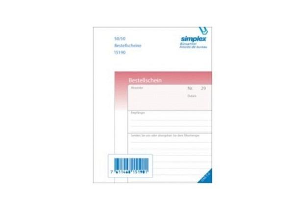 Bestellscheine Simplex A6 50x2 Druck rosa