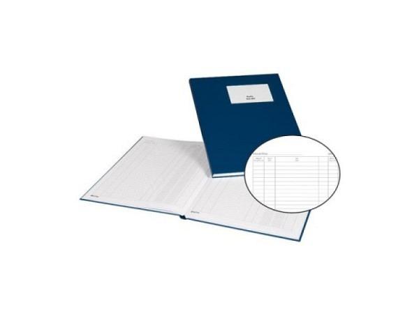 Geschäftsbuch Biella Kassabuch A4 80 Blatt, mit festem blauem Umband..