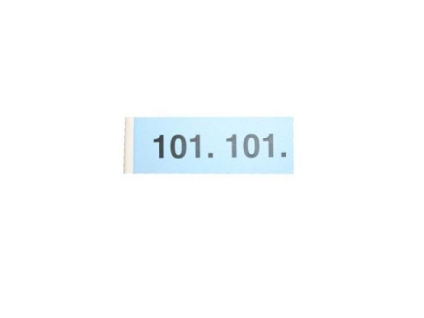 Garderobenblock 101-200 blau
