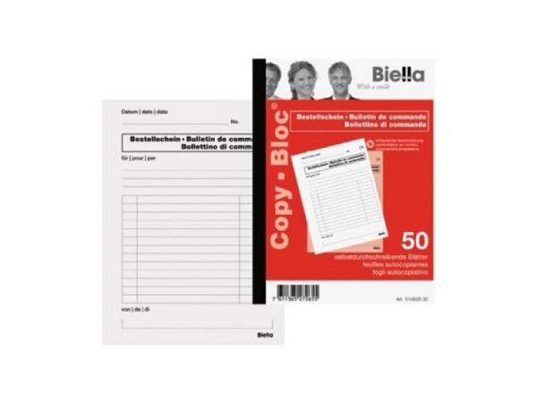 Bestellschein Biella A6 510625 OK 50x2Blatt blau/roter Druck